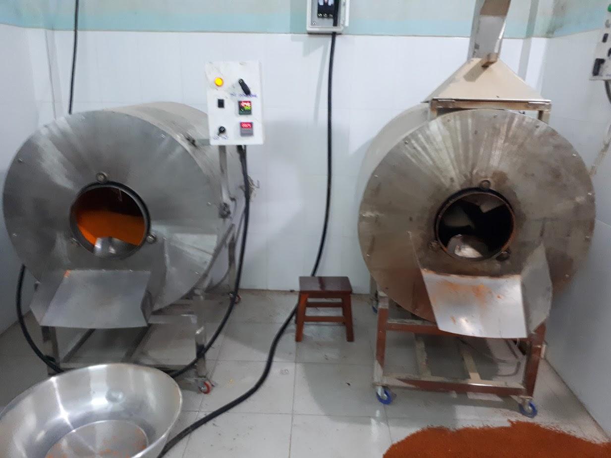 máy rang hạt công nghiệp