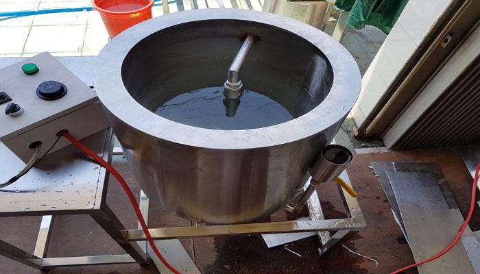 nồi nấu sữa đậu bằng hơi